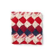 Lily Sugar'n Cream Entrelac Knit Dishcloth