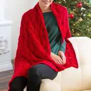 Red Heart Reversible Wave Throw