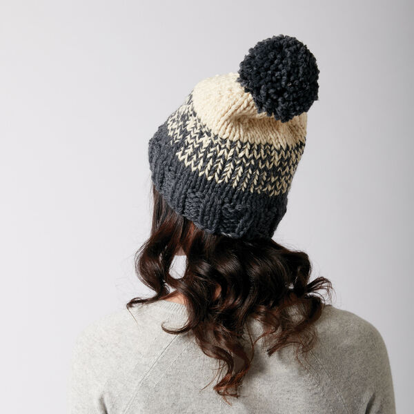 Free Pattern: Phased Out Hat in Patons Classic Wool Bulky yarn