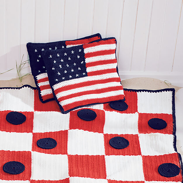 Lily Sugar'n Cream Stars and Stripes Cushions in color
