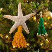Red Heart Christmas Tassels, Glitter Starfish Tassel