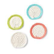 Lily Sugar'n Cream Mock-Rame Crochet Coasters Set