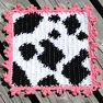 Lily Sugar'n Cream Cow Dishcloth in color  Thumbnail Main Image 2}