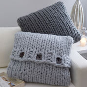 Red Heart Inviting Knit Pillows