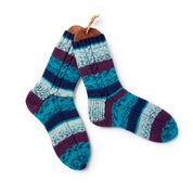 Go to Product: Patons Knit Cables on the Side Socks, Small 5/6 in color