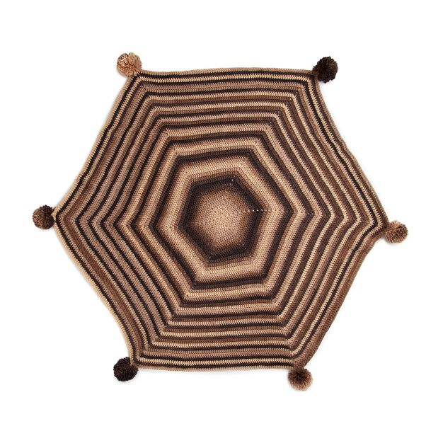 Red Heart Hexagonal Angles Crochet Blanket | Yarnspirations