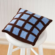 Red Heart Crochet Two-Color Pillow