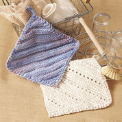 Lily Sugar'n Cream Simple Ridge & Eyelet Dishcloth
