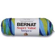 Bernat Super Value Stripes Yarn, Meadow Stripes