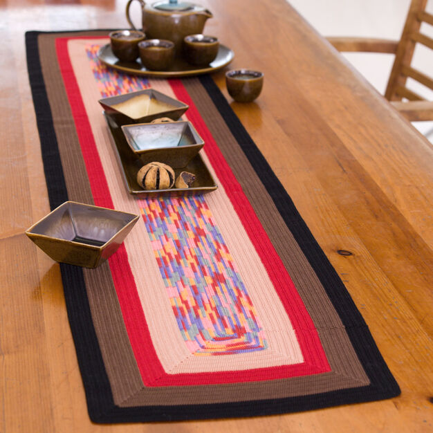 Aunt Lydia's Square on Square Table Runner, S in color
