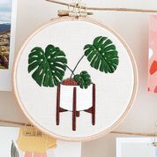 Go to Product: Anchor Monstera Love Hand Embroidered design in color