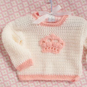 Red Heart Little Princess Crown Sweater, 1 yrs