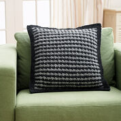 Bernat Houndstooth Pillow