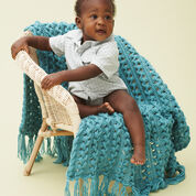 Go to Product: Bernat Hairpin Lace Baby Blanket in color