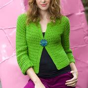 Red Heart Sparkling Crochet Cardi, S