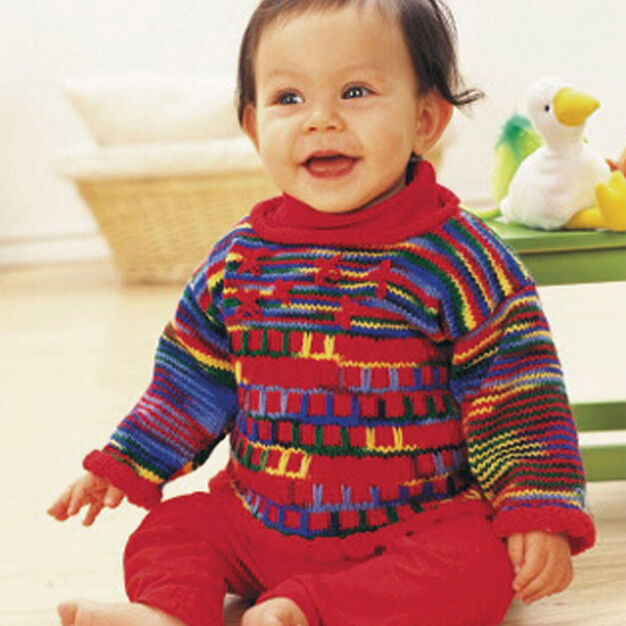 Patons Sweet Red Tunic, 6 mos in color