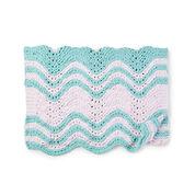 Bernat Garter Ripple Stripes Knit Baby Blanket