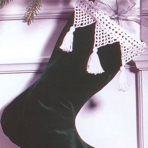 Patons Grace Lace Crochet Stocking Edging