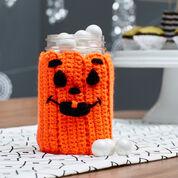 Red Heart Spooky Pumpkin Jar Cozy