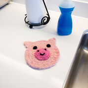 Red Heart Playful Pig Scrubby