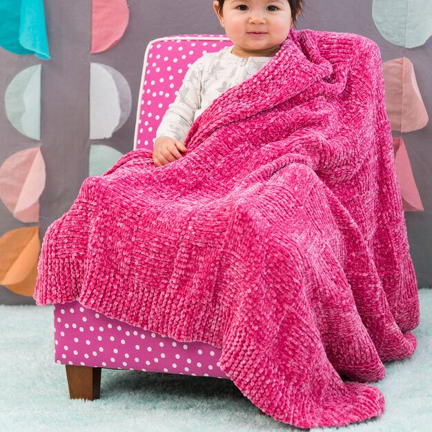 Red Heart Basketweave Baby Blanket