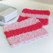 Red Heart Wide Stripes Wash Cloths