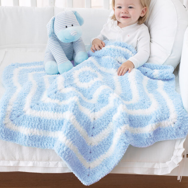 Bernat Star Blanket in color