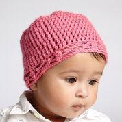 Bernat Crochet Baby Hat, White