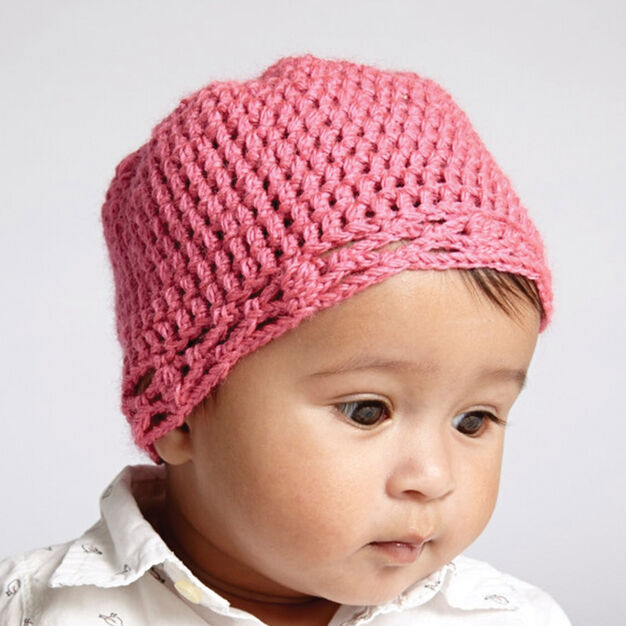 Bernat Crochet Baby Hat White Pattern Yarnspirations