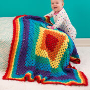 Red Heart Radiant Rainbow Blanket