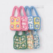 Lily Sugar'n Cream Granny Square Bags, Green Bag