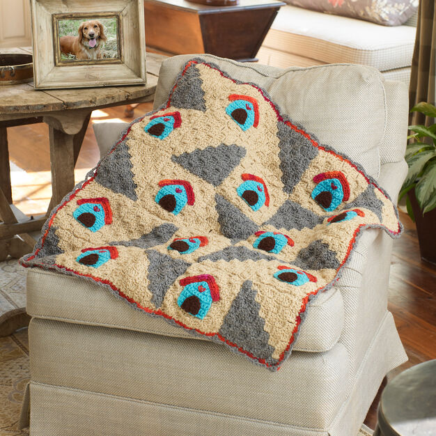 Red Heart A Dog's Home Throw