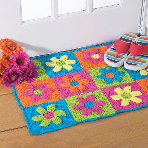 Bernat Flower Power Rug in color