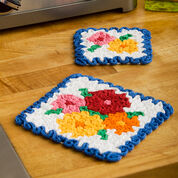 Aunt Lydia's May Flowers Hot Pad & Coaster Set, Coaster