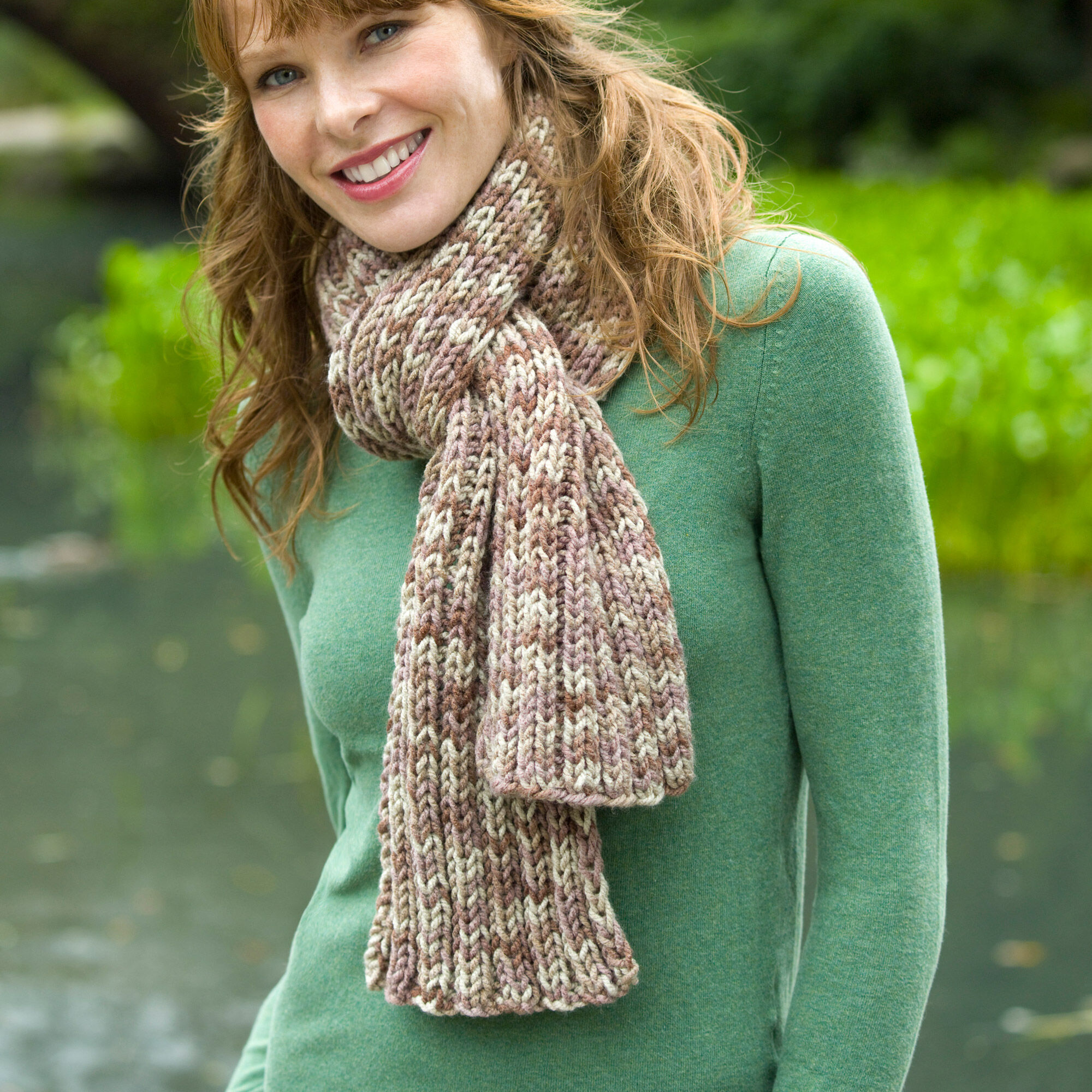 Red Heart Ribbed Scarf | Yarnspirations