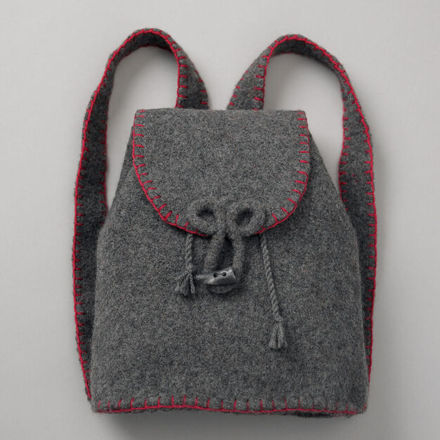 Patons Felted Flannel Backpack in color