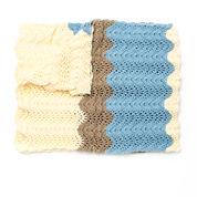Caron Seaside Ripple Crochet Afghan