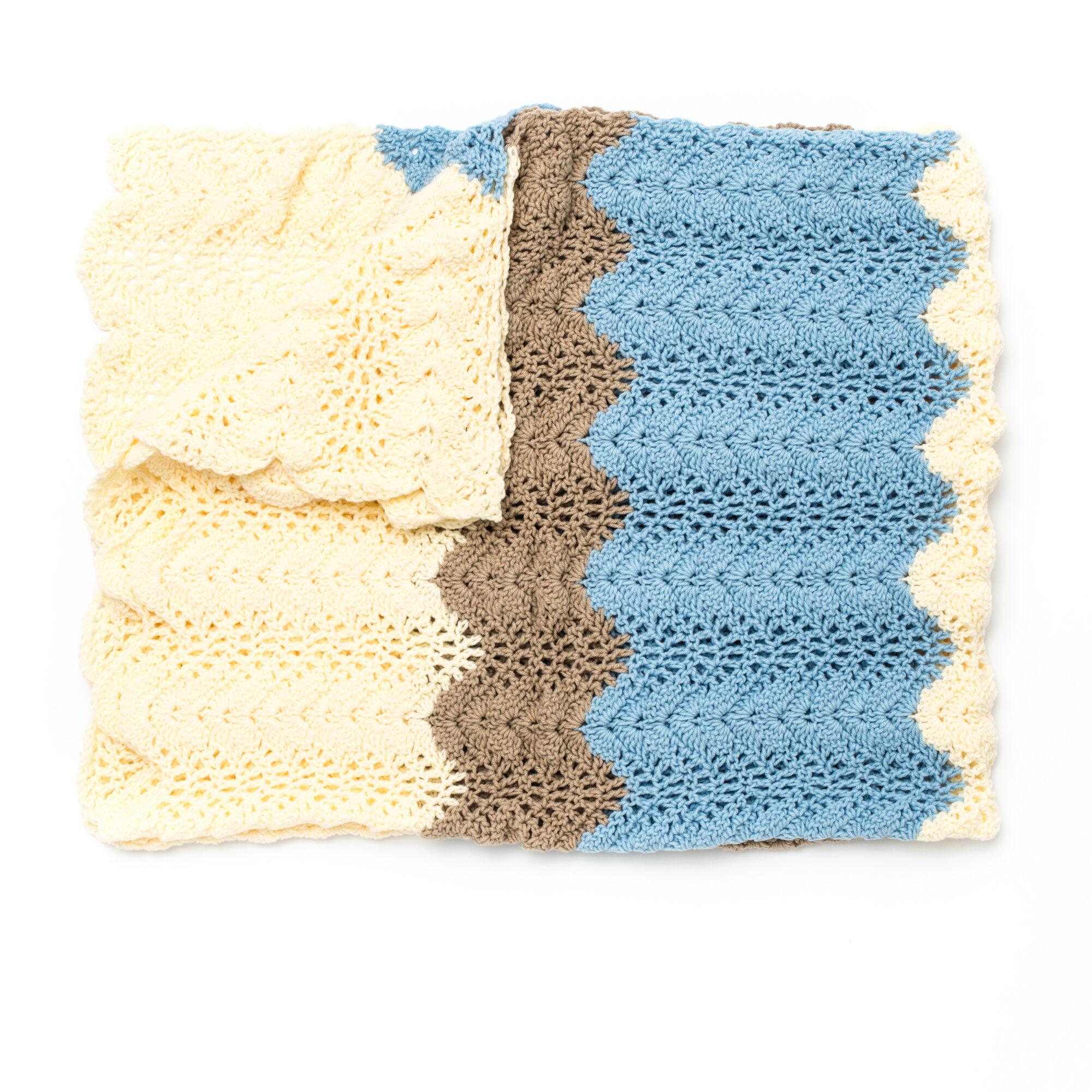 Caron Seaside Ripple Crochet Afghan   Yarnspirations
