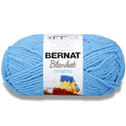 Go to Product: Bernat Blanket Brights Yarn (300g/10.5 oz) in color Busy Blue