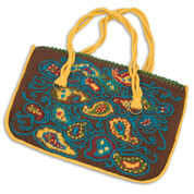Red Heart Paisley Purse