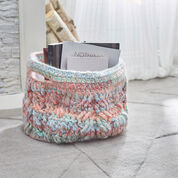 Red Heart Cabled Basket