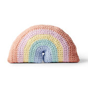 Bernat Crochet Rainbow Pillow