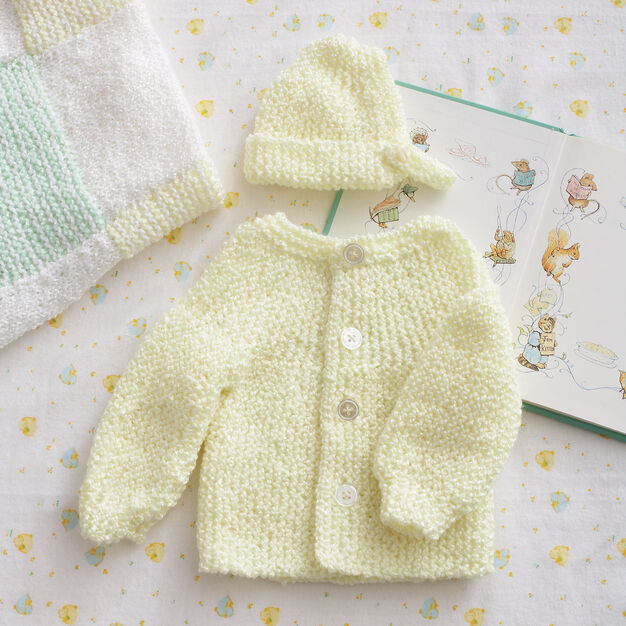 Bernat Preemie Garter Stitch Set, Preemie 3-5 lbs in color
