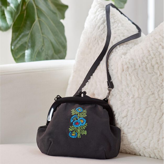 Coats & Clark Embroidered Purse in color