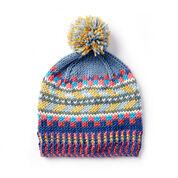 Caron x Pantone Color Rules Knit Fair Isle Hat