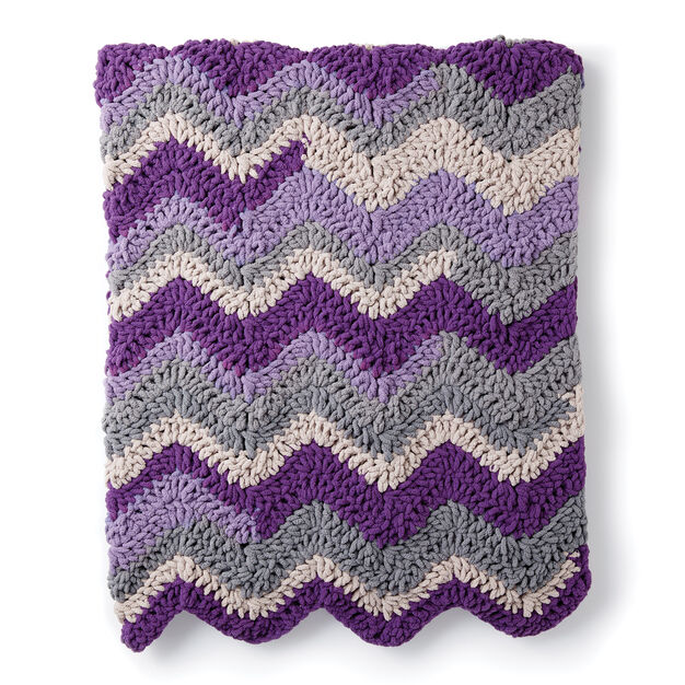 Bernat Chevron Crochet Blanket in color