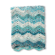 Caron Wave Hello Crochet Blanket