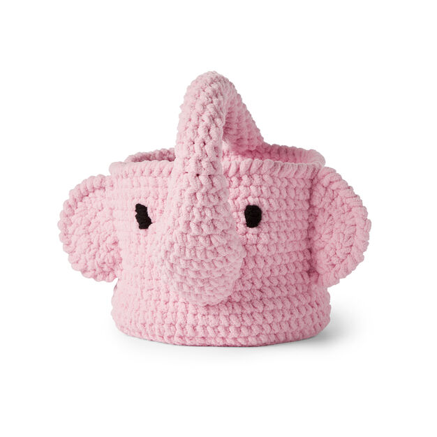 Bernat Crochet Elephant Basket Pattern | Yarnspirations