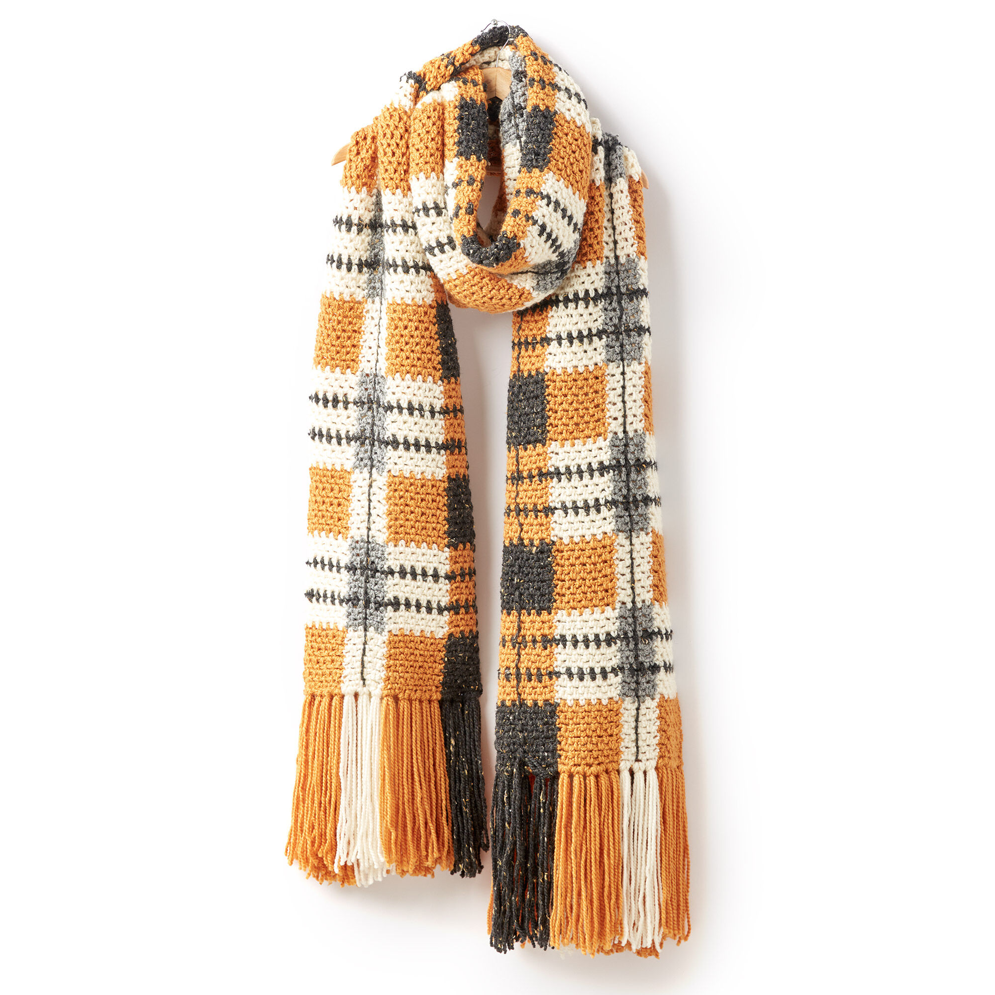 Patons Big Tartan Crochet Super Scarf | Yarnspirations