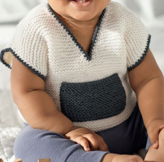 Red Heart Baby Vest, 0 mos in color